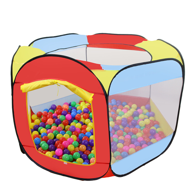 Play House Indoor and Outdoor Easy Folding Ocean Ball Pool Pit Game Tent Play Hut Girls Garden Kids Children Toy Tent