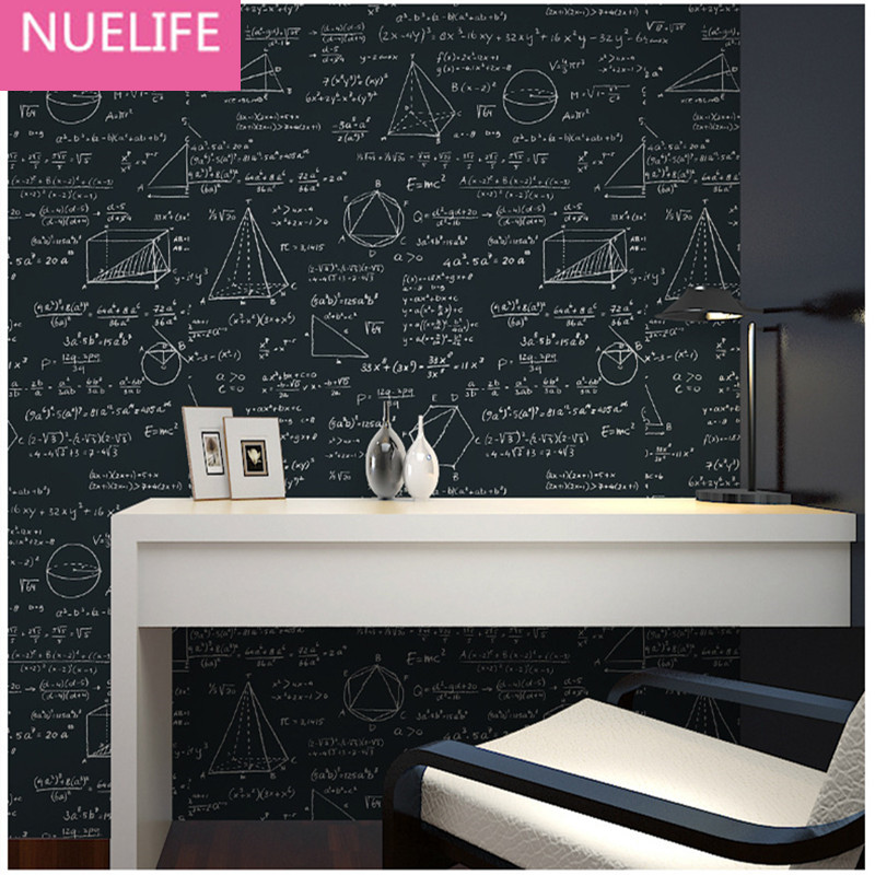 0.53x10m Blackboard Geometry Mathematical Formula Formula Individuality  Pattern Wallpaper Kids Room Cafe Restaurant Wallpapers