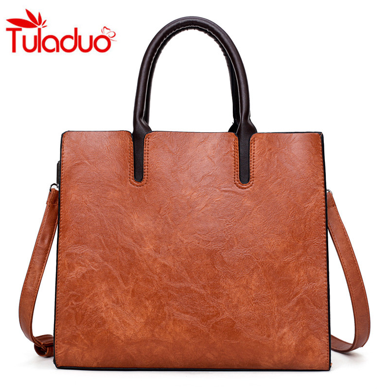 2017 Leather Handbag Women Famous Brands Women Casual Bags Large Tote Trunk Brand Shoulder Bag Women's Large Shoulder Bag Bolsos 6 sets leather bags handbags women famous brands big casual women bags trunk tote brand shoulder bag ladies large bolsos mujer