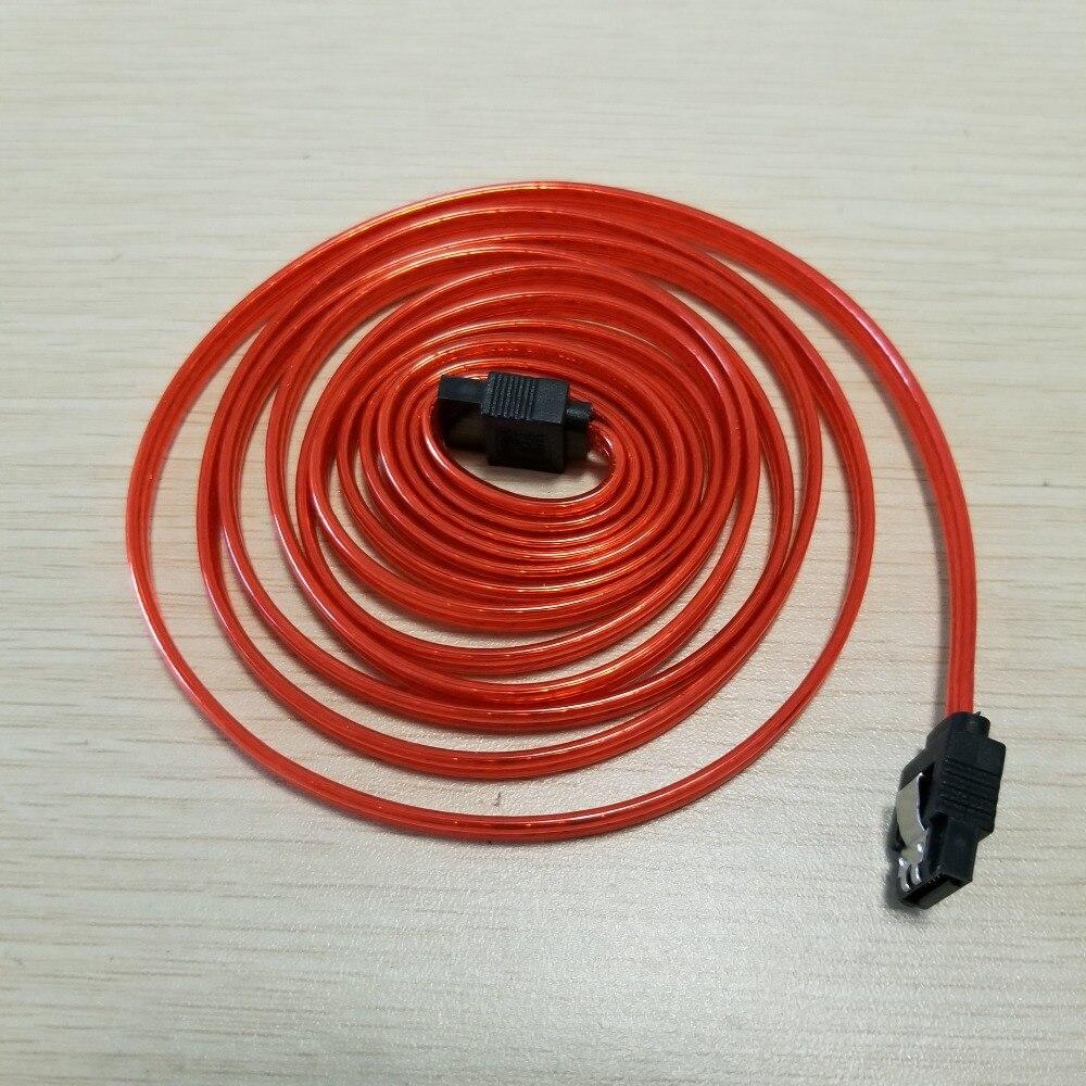Image 4 - SATA 3th поколения кабель для передачи данных биметаллическая Пряжка медь Core Красный 2 м
