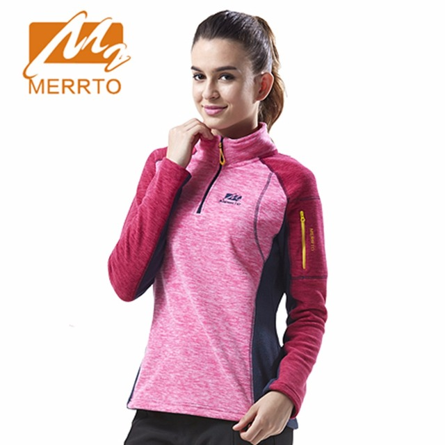 2017 Merrto Womens Fleece Jackets Thermal Mountain Sports Jackets Green Pink Rose Red Yellow For Women Free Shipping MT19205