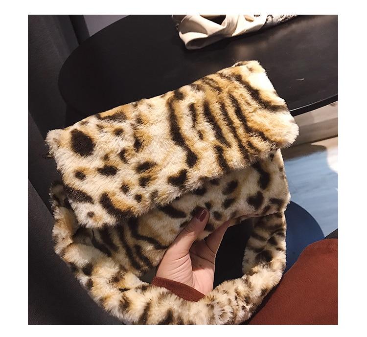 Sacchetto Borse Alta Per black leopard Molle Progettista 2019 Leopardo  Stampa Della Le Capacità Messaggero Copertura Peluche Femminile Marca Donne  ... 48b2557ba92
