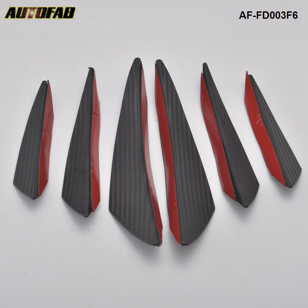 Fits Accord Civic Paintable Front Bumper Lip Canard Splitters Fins Chin