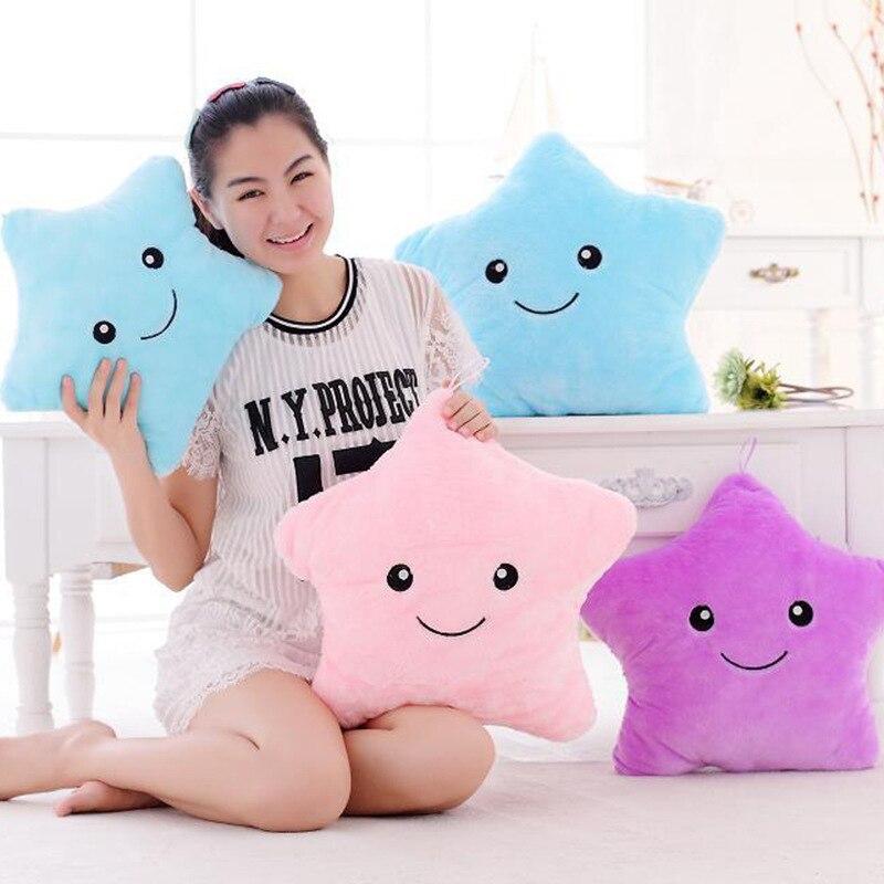 Hot Creative Light Up LED Star Luminous Pillow Wypchane zwierzęta - Lalki i wypchane zabawki - Zdjęcie 4