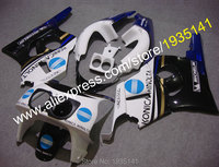 Hot Sales,For Honda CBR400RR NC29 Fairings 1990 1998 CBR 400 RR 90 98 1998 1997 1996 Konica Minolta ABS Motorcycle Fairing Kit