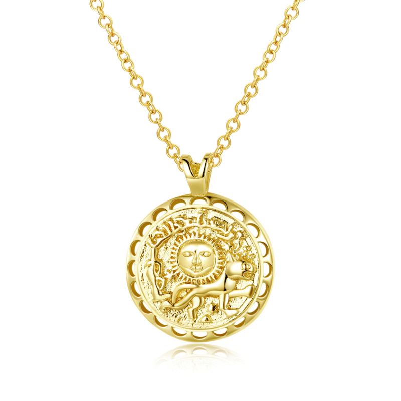 Garilina Greek mythology sun god gold necklace pendant for ...