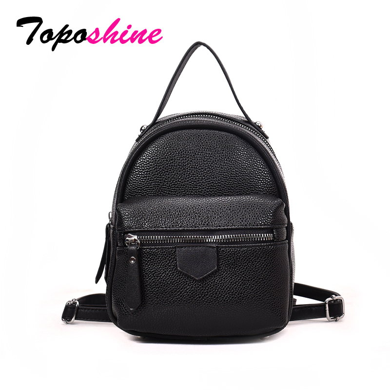 5ca95e147e Toposhine Fashion Shinning PU Leather Girl Backpack Small Casual Bag For  Teenager Solid Cute Women Backpacks Student School Bags