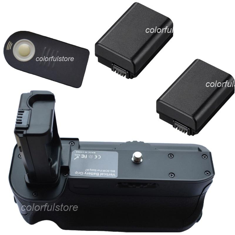 Battery Hand Handle Grip Holder Pack Vertical Power Shutter For Sony Alpha A7 DSLR Digital SLR as BG-3CIR+IR Remote+ 2 x NP-FW50