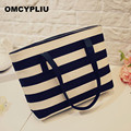 Women Luxury Handbags Women Bags Designer Brands 2017 Leisure Ladies Striped Shoulder Bags High Quality Bolsa Feminina