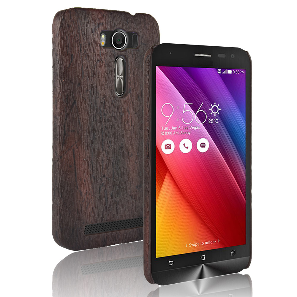 New Fashion Phone Case Back Cover For <font><b>Asus</b></font> ZenFone 2 Laser 5.0 ZE500KL Case Luxury Wood pattern PU leather Case For <font><b>ASUS</b></font> <font><b>Z00ED</b></font> image