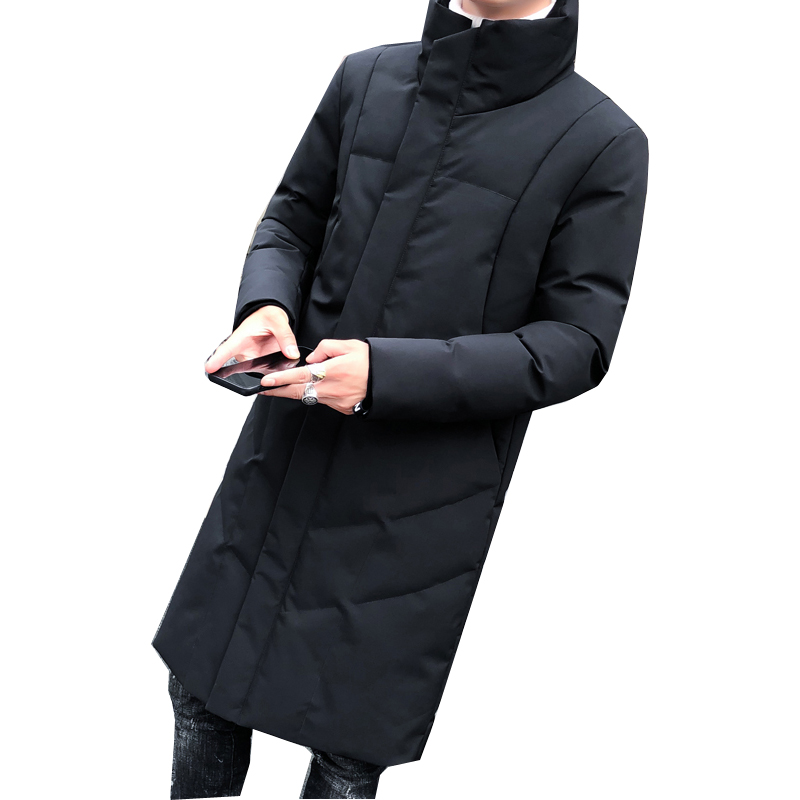 Nuovo Caldo Spessa Di Giacca Casual Cappotto D Cotone Solido Inverno  Cappuccio Lungo Outwear In Parka 24 Uomini cachi Tasche Uomo Nero Degli Con  ... 96a385182c6