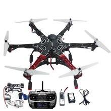 Montado F550 6-Aix RTF Kit Completo con APM 2.8 Vuelo Controlador GPS Brújula y Cardán F05114-AS