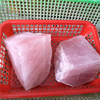 one pair rose quartz crystal  pedras naturais e minerais bookends