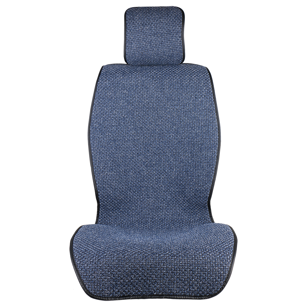 2pcs Classic Artificial Linen Car Seat Cover Blue Cloak/ Protect Front or Back Seat Cushion Pad Fit Most Car, Truck, Suv, or Van pillowcase classic style wave pattern car comfy back cushion cover