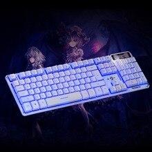 Наклейки Клавиатуры АУН Механической клавиатуры 104 Ключи USB Проводная Игровая Клавиатура с Backligh для Планшетных Desktop Компьютерной Периферии