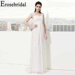 Image 4 - Erosebridal White Ivory Wedding Dress New Design 2019 Classical Beach Bridal Gown Elegant Lace Up Back In Stock