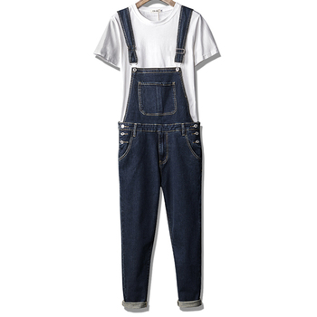2018 New Summer Men's Korean Style Slim 3XL Denim Jumpsuits Overalls , Buttons Jeans Pants For Men , Male Casual Overall Romper