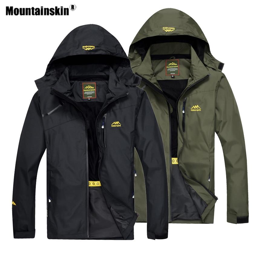 Mountainskin Men's Outdoor Hiking Jacket Spring Sports Climbing Trekking Windbreaker Camping Fishing Waterproof Men Coats VA467