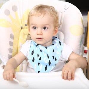 Image 4 - 16 sztuk/zestaw Unisex Baby Bandana śliniaki, 100% bawełniane śliniaki, Super stylowe wodoodporne i przeciw zabrudzeniom absorbują