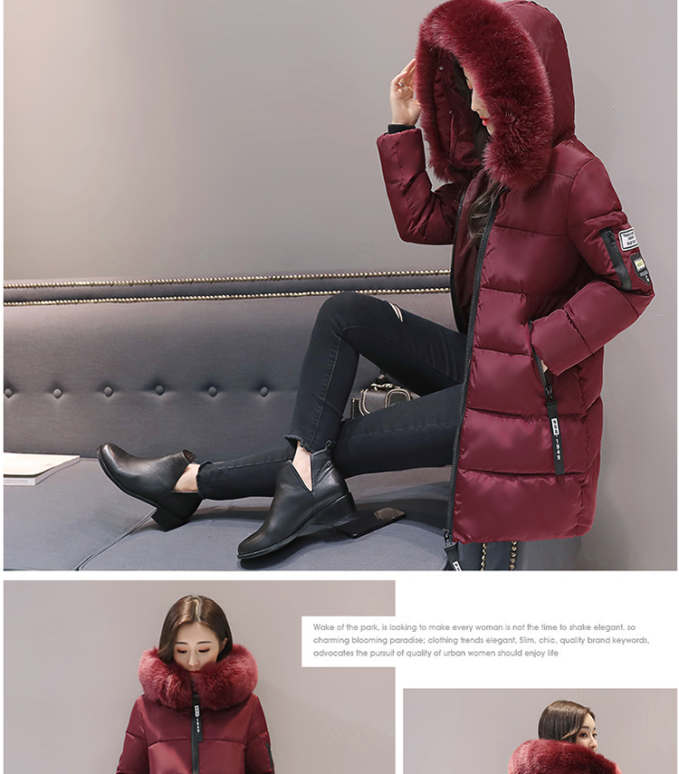 Parka Women Winter Coats Long Cotton Casual Fur Hooded Jackets Women Thick Warm Winter Parkas Female Overcoat Coat 19 MLD1268 14
