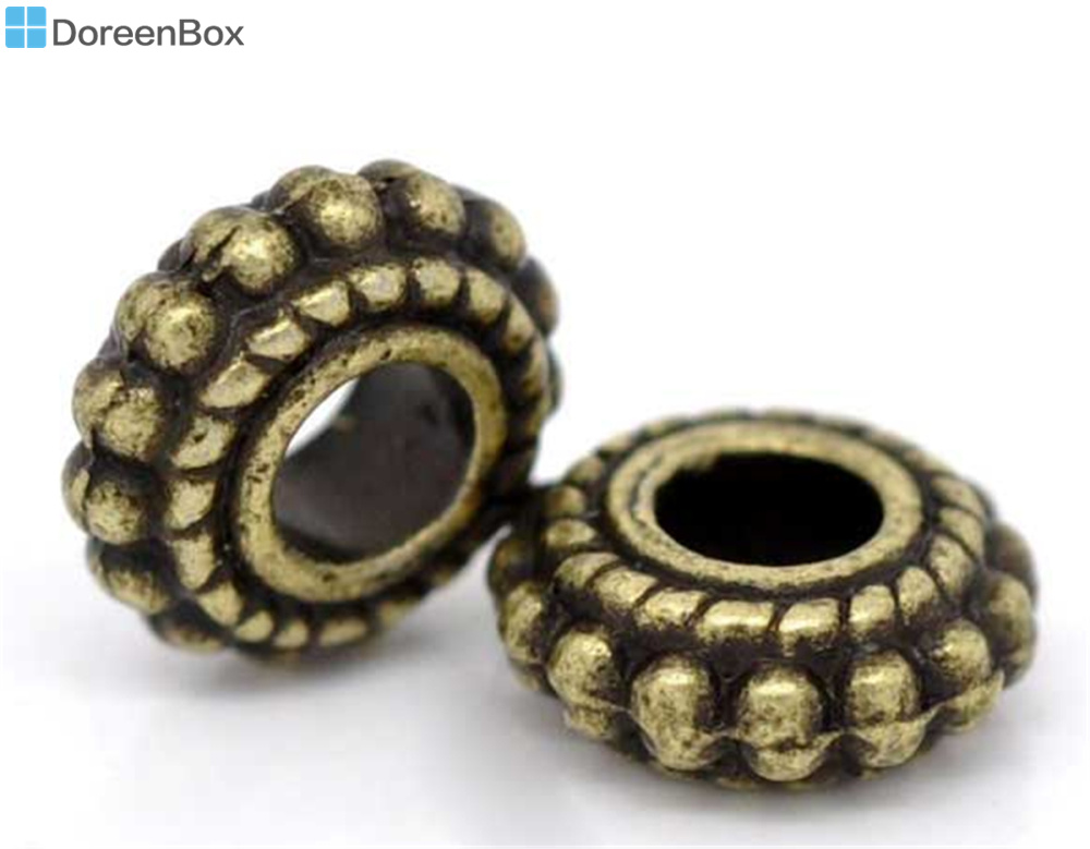 Doreen Ruota Scatola Bella 100 Bronze di Tono Distanziatore Borda I  Risultati 8x3mm (B09226) 22bb11aff960