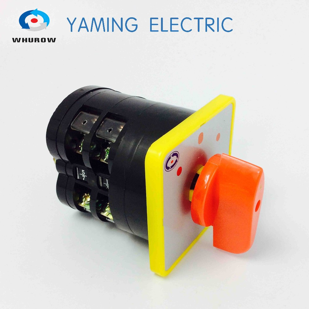Yaming Electric LW5 load switch D5408/2 LW5D-16 universal conversion Changeover Rotary Switch 16A 660V 3 position 2 knots 660v ui 10a ith 8 terminals rotary cam universal changeover combination switch