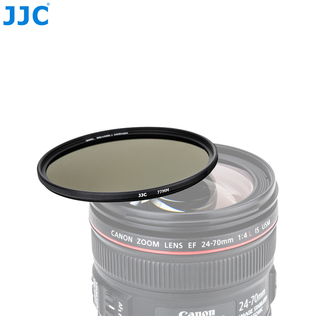 JJC F-ND Series Camera Lens Filters HD Optical Glass 10-Stop Exposure Reduction ND1000 Neutral Density Filter From 49MM to 82MM