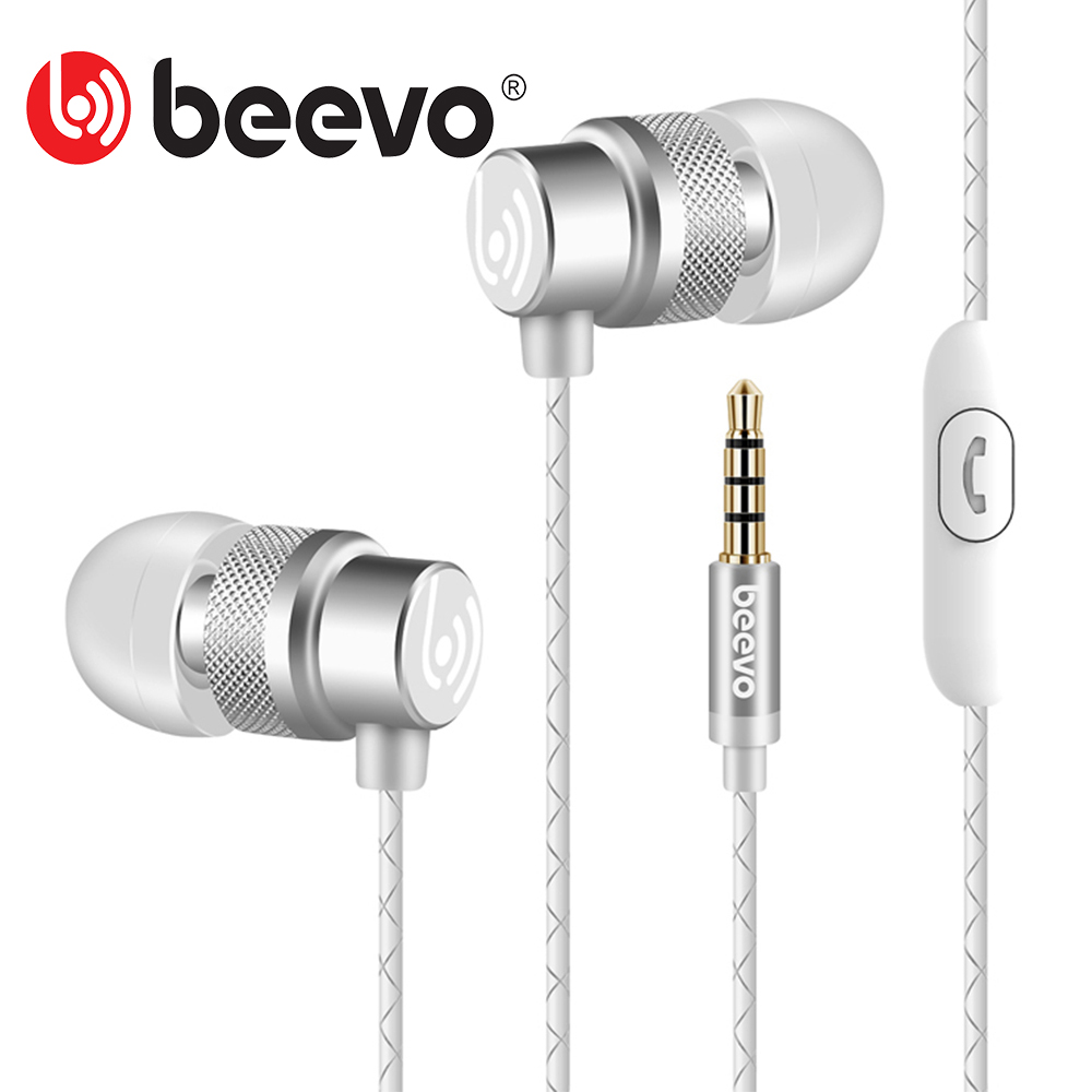 Beevo EM290 Super Bass In Ear Music Earphone auriculares With Microphone dj fone de ouvido HIFI Noise Isolating Headset
