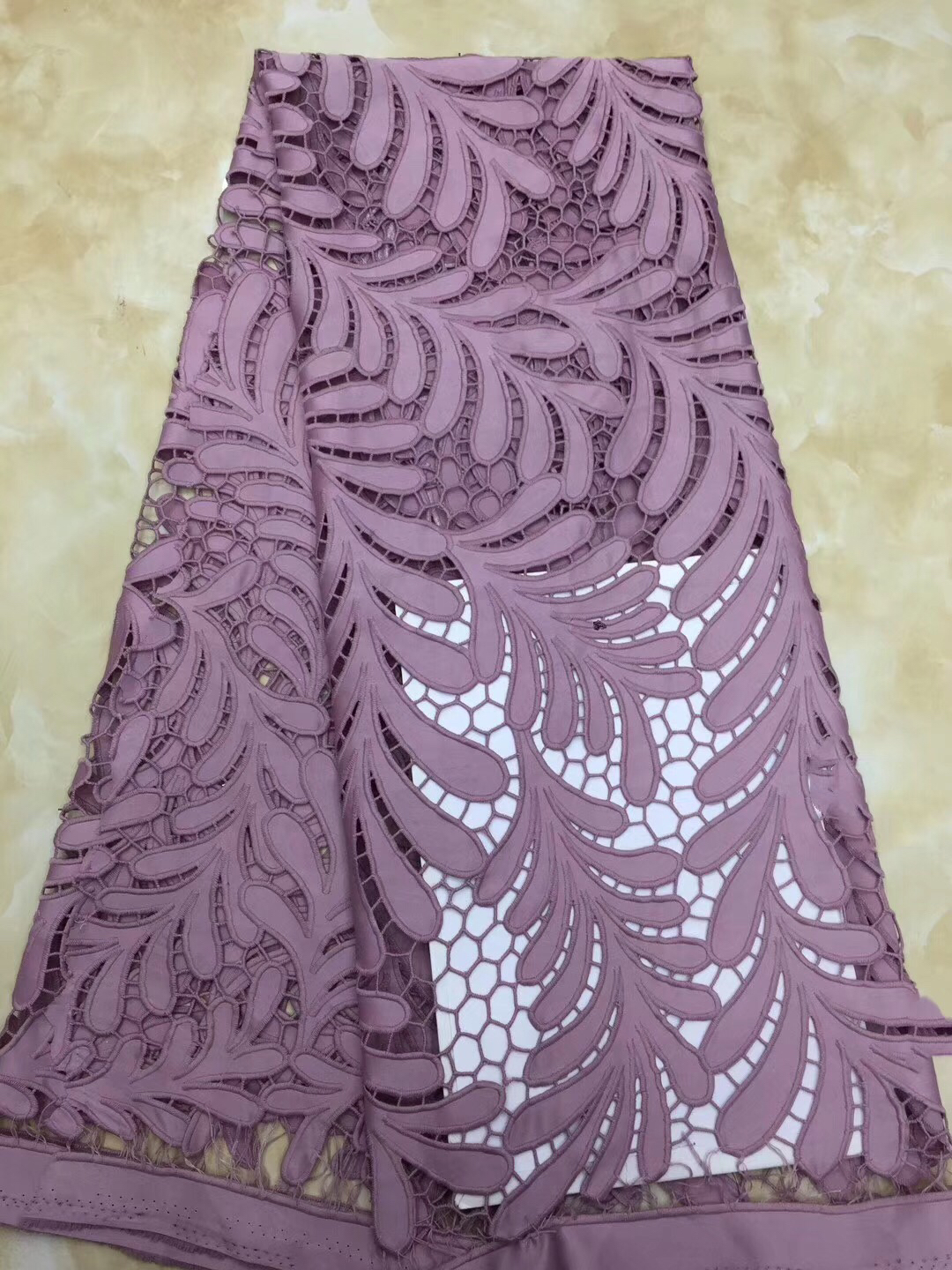 African Cord Lace Fabric 2019 Embroidered Nigerian Lace Fabric High Quality French Guipure Lace Fabric For