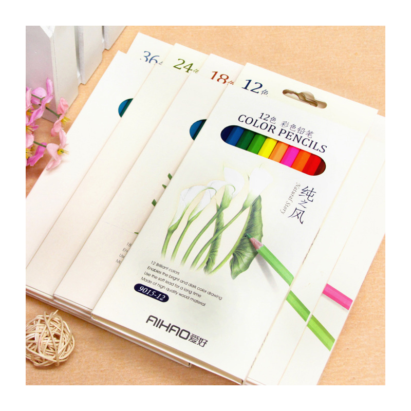 High Quality Wooden 24 Color Pencil For Secret Garden Drawing Writing Coloring Books Adult and Children Kids School Supplies
