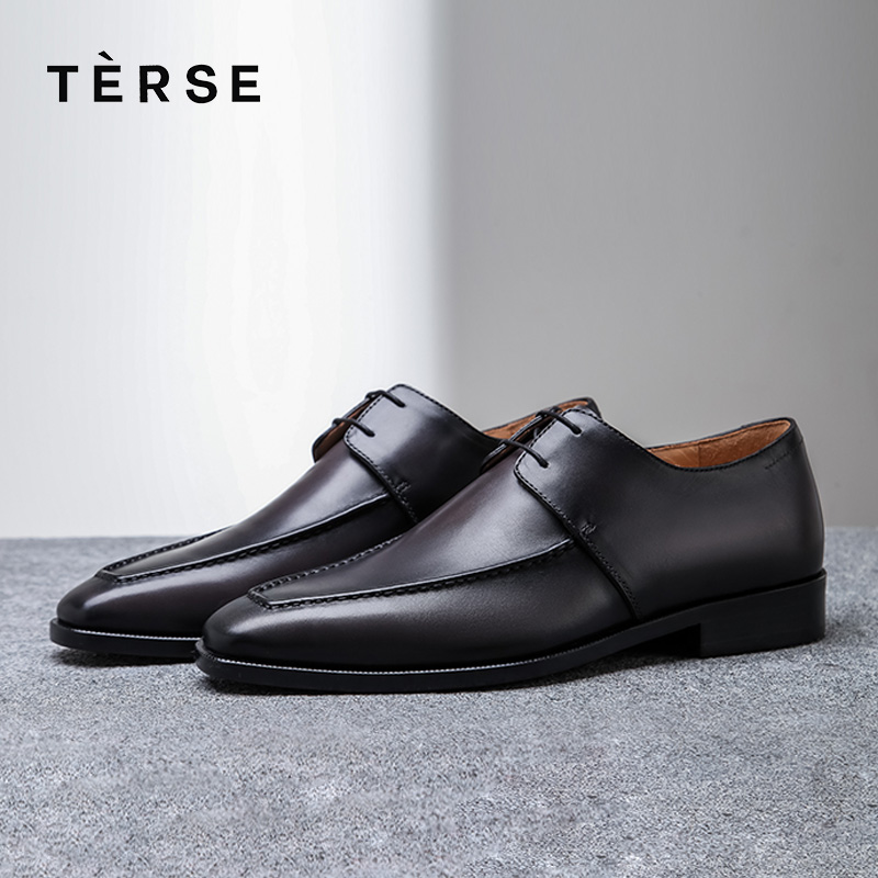 TERSE NEW Men`s Shoes Handmade Genuine Leather Shoes Casual Luxury Oxfords Breathable Shoes 4 Colors Custom Logo 15770-29 latvia men s shoes diy free custom made name number lva casual shoes nation flag republic latvija country college couple shoes