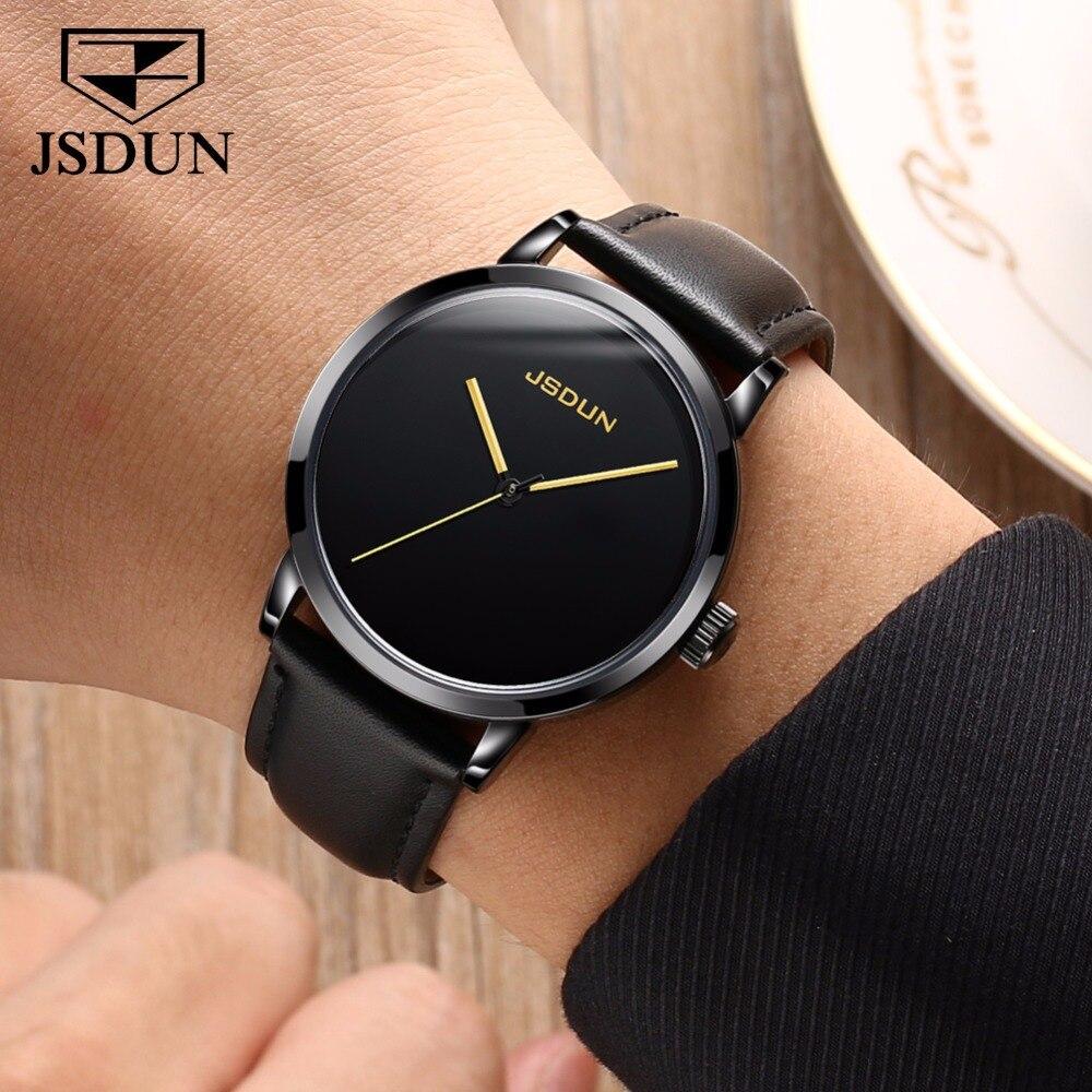 JSDUN หรูหรานาฬิกาผู้ชายนาฬิกาไขลานนาฬิกาหนังกันน้ำชายญี่ปุ่นนาฬิกาข้อมือ-ใน นาฬิกาข้อมือกลไก จาก นาฬิกาข้อมือ บน   2