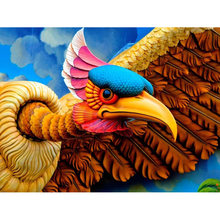 Full square diamond 5D DIY diamond embroidered Eagle diamond painting cross stitch rhinestone inlaid jewelry gift YY(China)