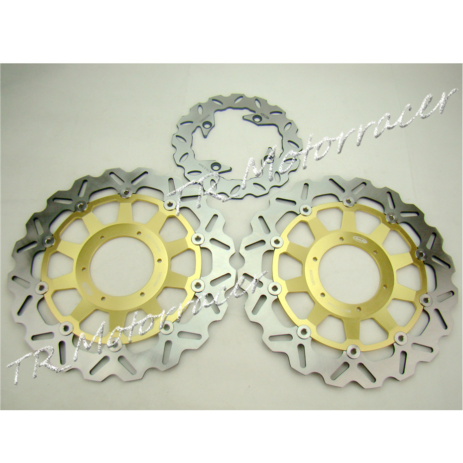 Front & Rear Motorcycle Brake Disc Rotors For Honda 2000 2001 CBR 929RR / 929 RR & 2002 2003 CBR 954RR / 954 RR front & rear motorcycle brake disc rotors for honda 2000 2001 cbr 929rr 929 rr & 2002 2003 cbr 954rr 954 rr
