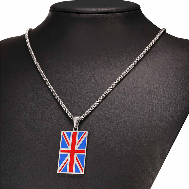 New Hot England National Flag Pendant Stainless Steel/Gold Color UK Patriot Necklace Women/Men Jewelry 2017 Wholesale GP2446 5