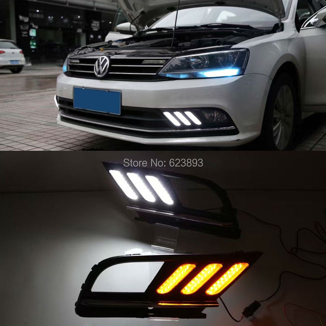 Aliexpress.com : Buy 2x Super Bright LED Daytime Running Lights DRL Fog Lamp with yellow ...