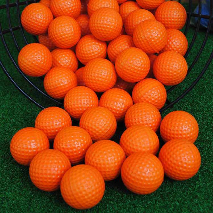 Elastis Golf Dalam Ruangan Lembut Permainan Bola Kuning Golf PU Bola Pelatihan Praktek Busa Elastis Golf Spons Bola Karet Kapsul Alat Bantu
