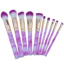 Высококачественный брендовый женский набор для макияжа из мрамора, высококачественный мягкий таклон для волос, профессиональный набор кистей для визажиста