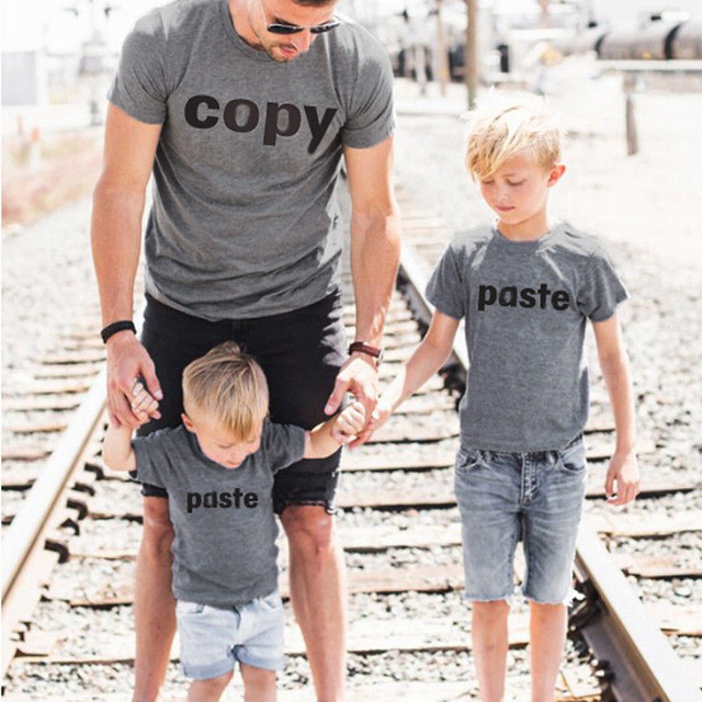 d5635762 Father Mother Son Copy Paste Matching Outfits T SHIRT Family Couple Shirt