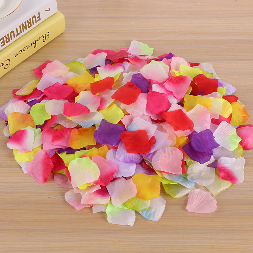 500pcs Artificial Silk Flower Petals for Wedding Party Bridal Events Romantic Decoration Fake Rose