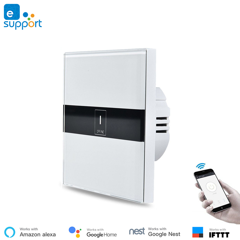 US $19 82 30% OFF|Ewelink APP wifi control EU touch wall switch Compatible  with IFTTT ,Google home ,Echo voice control,1gang ,2gang ,3gang Support-in