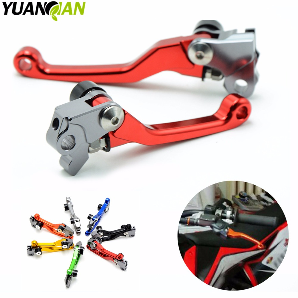 Motocross dirt bike CNC Pivot Brake Clutch Levers For HUSQVARNA TC85 TC125 TC250 TE125 TE250/300 FC250-450 FE250-501/S 2004-2016