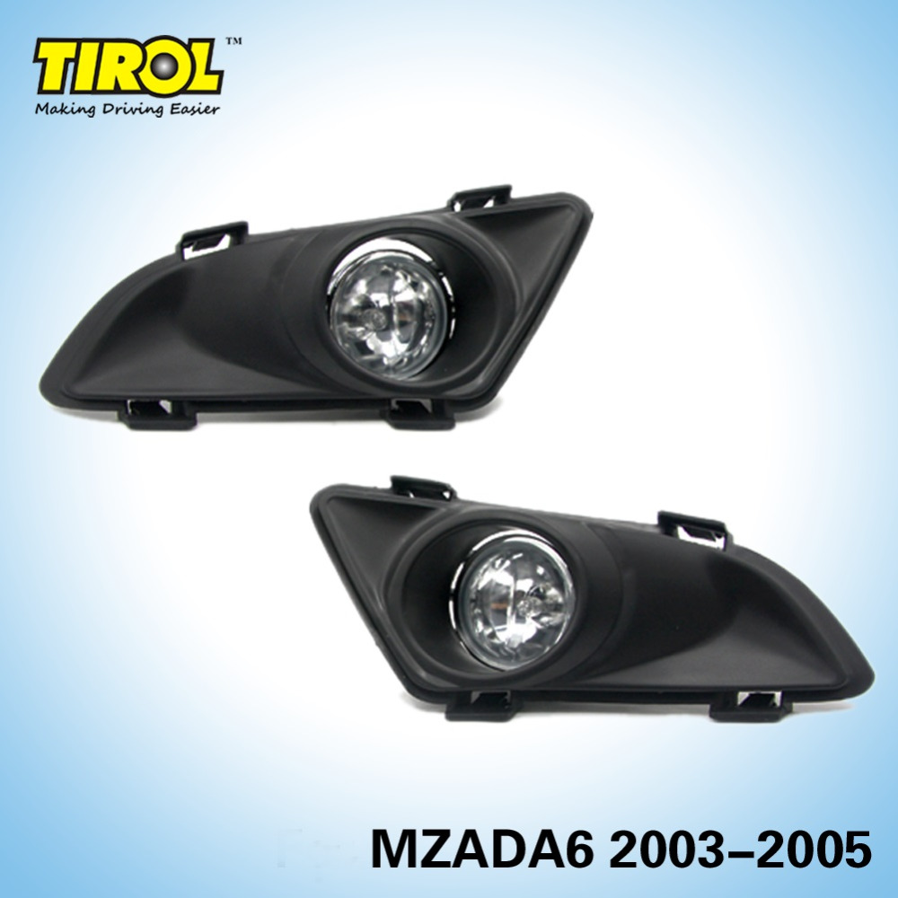 цена на Tirol T15597a  Fog Light Lamp kit OEM Replacement for Mazda6 2003-2005 Pickup Truck Smoke Front Bumper Lamps Pair Free Shipping