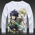Seraph of the end T-shirts Yuichiro Hyakuya Print Long Sleeve Krul Tepes Full T Shirt ops Autumn Spring Mikaela Hyakuya Tees