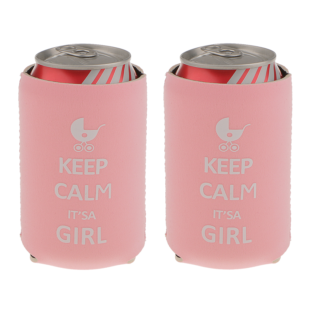 MagiDeal High Quality 2pcs Stubby Beer Bottle Tin Can Cooler Sleeve ...