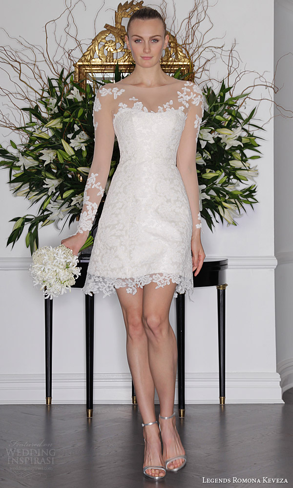 aliexpresscom buy sexy short wedding dress with long sleeve lace wedding gowns 2015 robe de mariage applique bridal whit gown imported china from