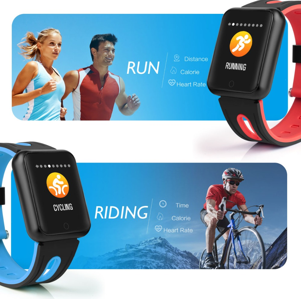 Smart Watch P68 Sports IP68 fitness bracelet activity tracker heart rate monitor blood pressure for ios Android apple iPhone 6 7 12
