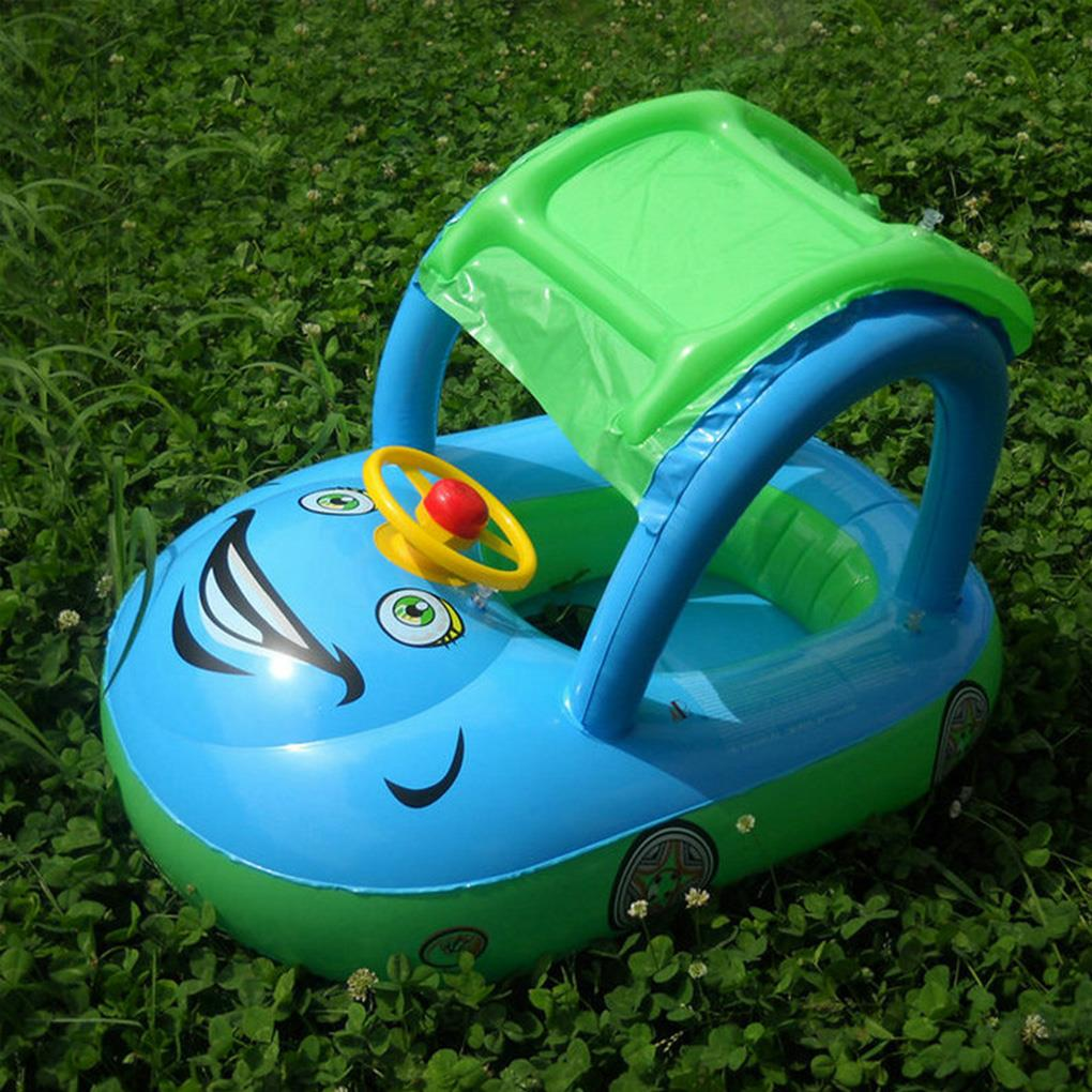 Baby Car Sunshade Inflatable Float Trainer Newborn Seat Boat Toddler Swimming Tube Ring Infant Swim Circle
