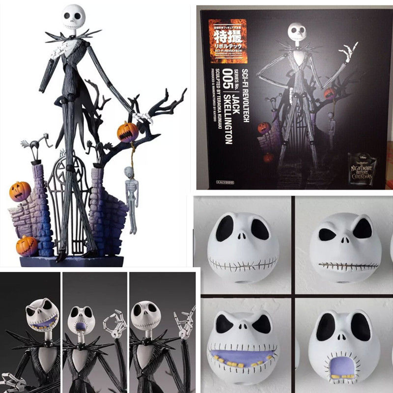 New The Nightmare Before Christmas Jack Skellington Action figure 15cm Anime Figure Collectible Model Toy