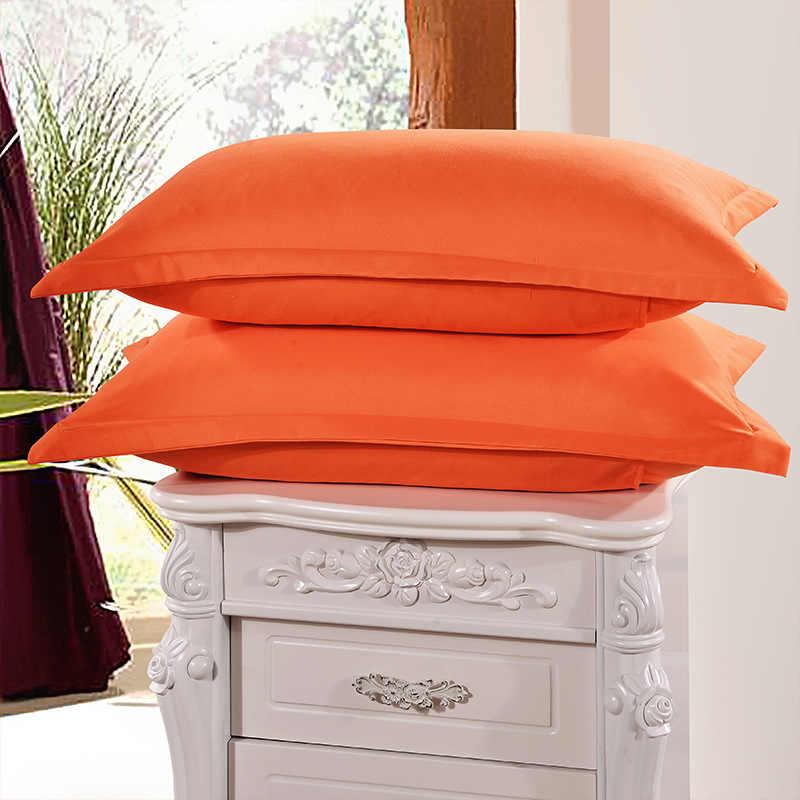 1 ピースオレンジ色 48 センチメートル * 74 センチメートル枕ケース簡単なスタイルニット枕ケース s 100% ポリエステル枕ケース s 使用 XF336-2